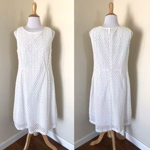 Garnet Hill White Eyelet Dress